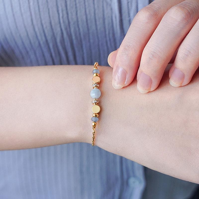星軌共舞 – 海藍寶 – 手鍊