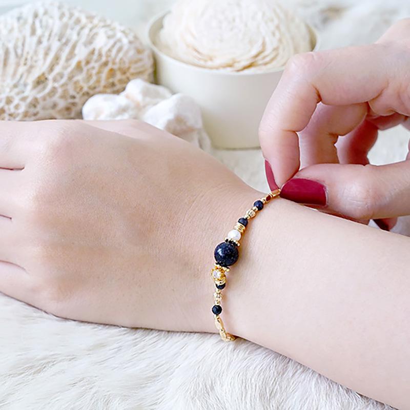 小蒐藏家 – 藍金沙 – 手鍊