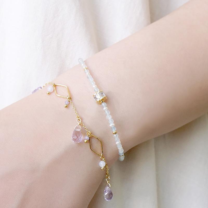 繡球花崇拜 – 海藍寶 – 手鍊