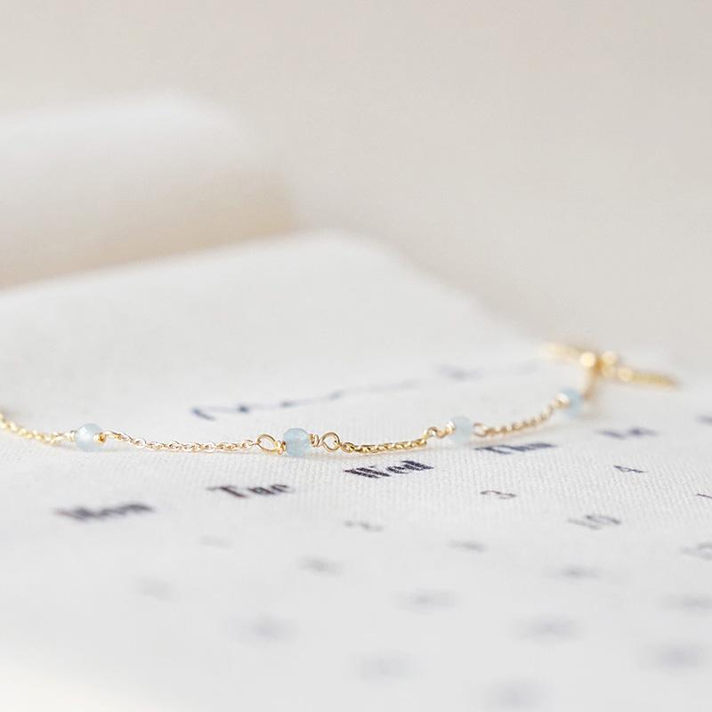 小宇宙盛事 – 誕生 – 3月 – 海藍寶 – 手鍊