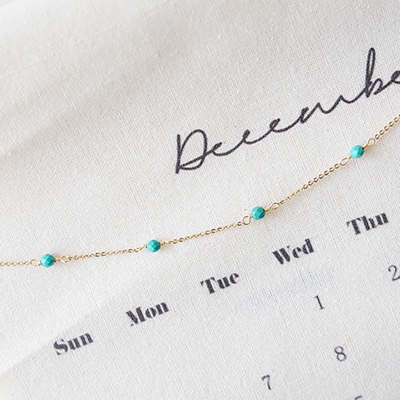 小宇宙盛事 – 誕生 – 12月 – 綠松石 – 手鍊