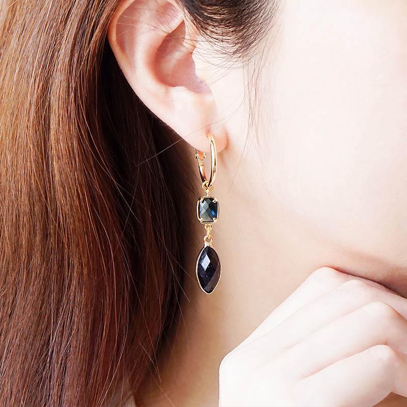 莉莉安 – 藍金沙 – 耳環