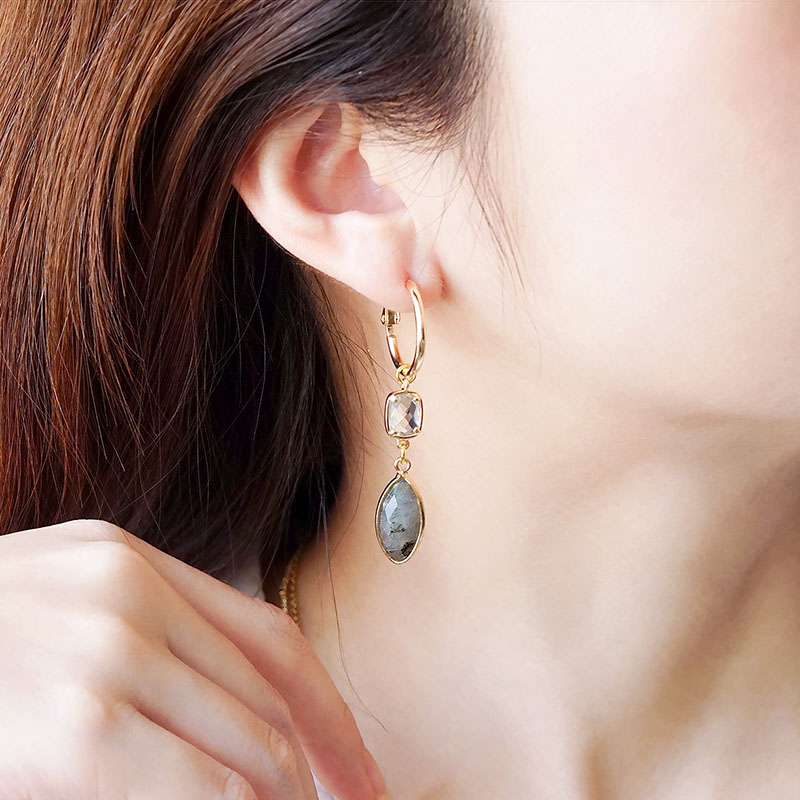莉莉安 – 拉長石 – 耳環