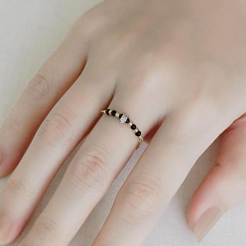 寶石調節式線戒 – 尖晶石 – 戒指