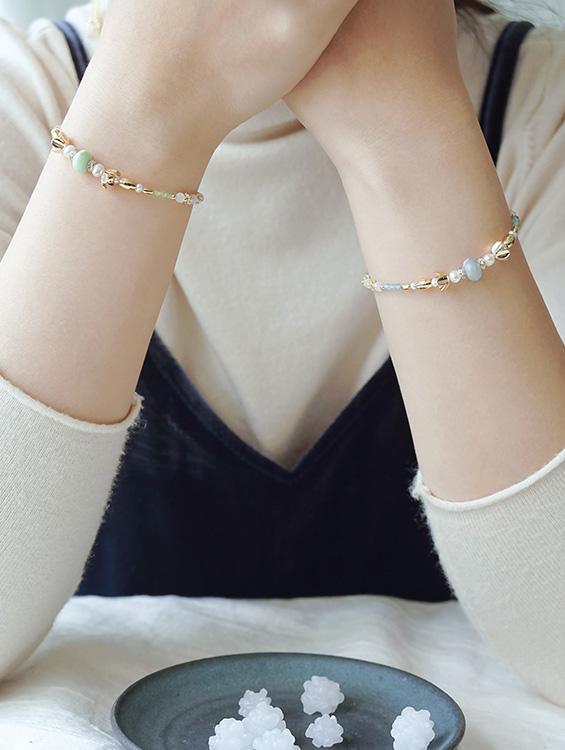 幸福療癒馬卡龍系寶石!輕珠寶新品『茶花和菓子』搭配攻略