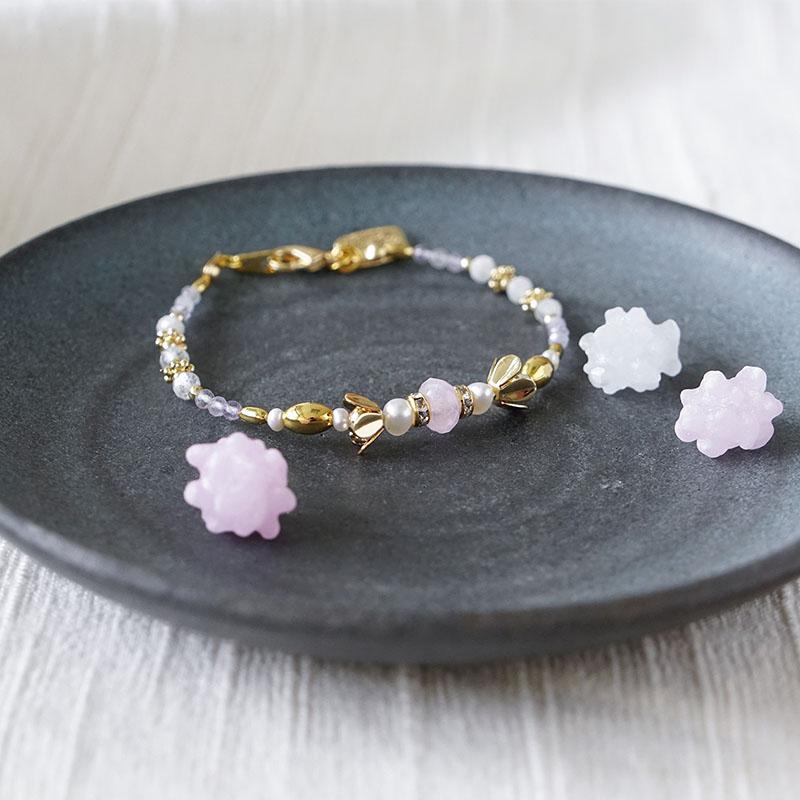 茶花和菓子 – 鋰輝石 – 手鍊