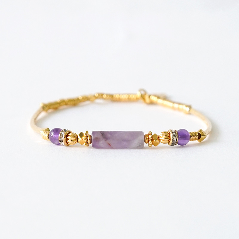 京都藝伎小夜曲 – 紫水晶 – 手鍊