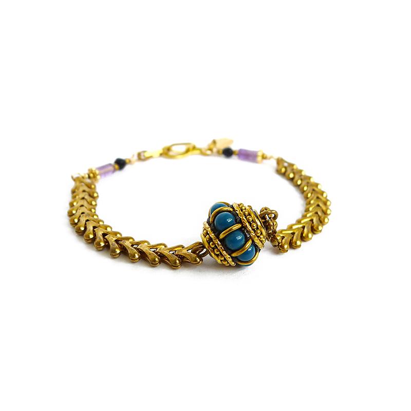 泗久 – 手鍊 – 紫黃水晶