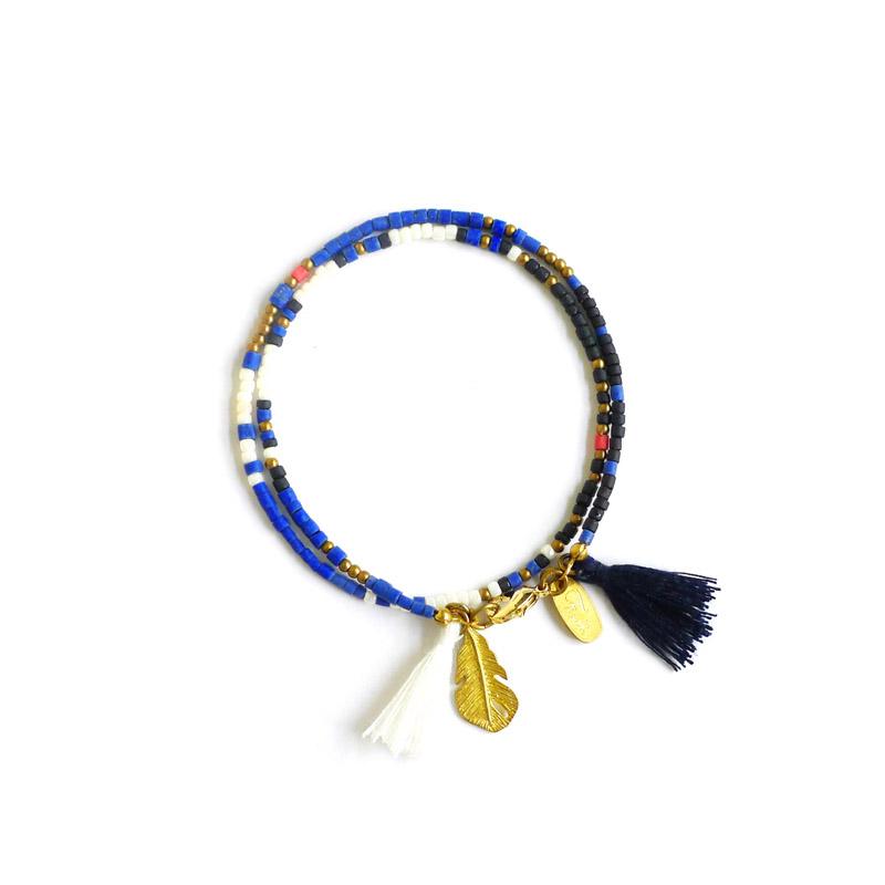 永恆的古老圖騰 – 藍 – 手鍊