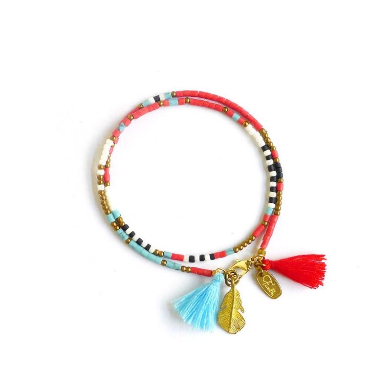 永恆的古老圖騰 – 紅 – 手鍊