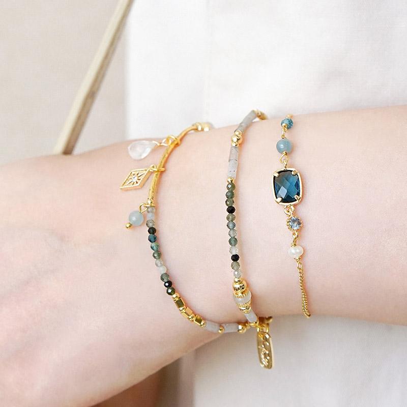 莉莉安 – 海藍寶 – 手鍊