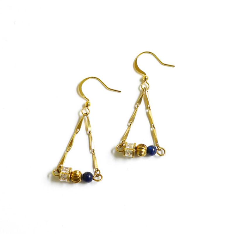 愛琴海遠行 – 藍 – 耳環