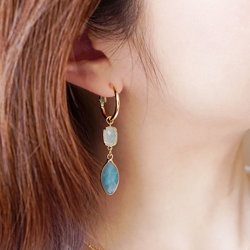 莉莉安 – 天河石 – 耳環