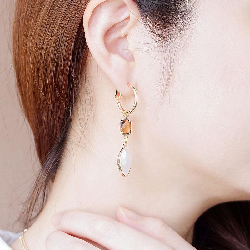 莉莉安 – 白水晶 – 耳環
