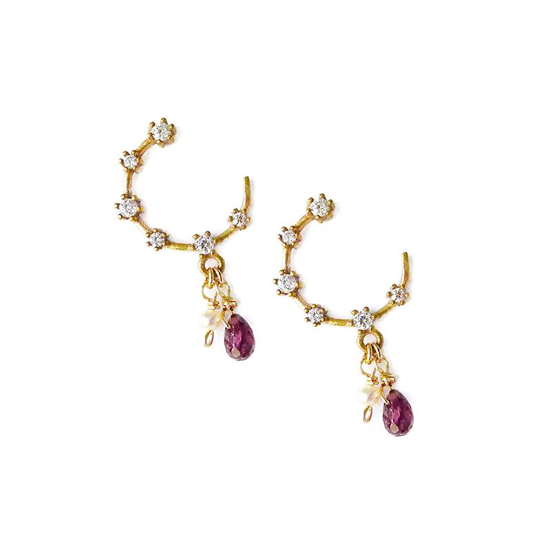 那人 那愛 – 紫 – C型耳環