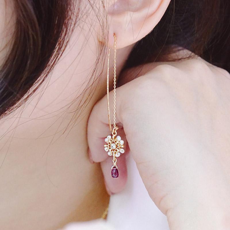 那人 那愛 – 紫 – 耳線耳環