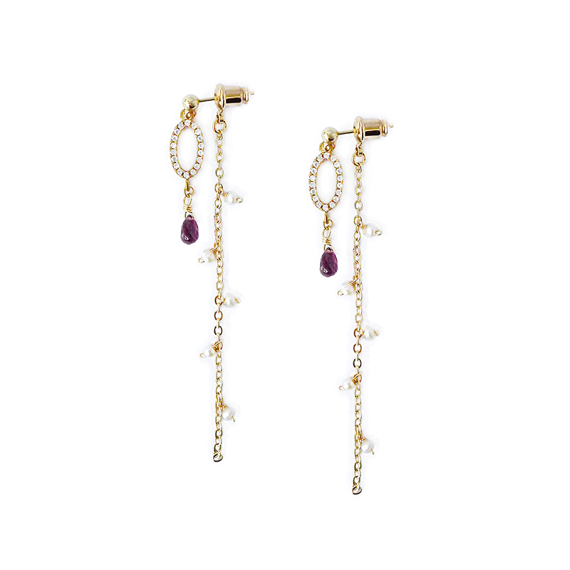 那人 那愛 – 紫 – 兩戴耳環