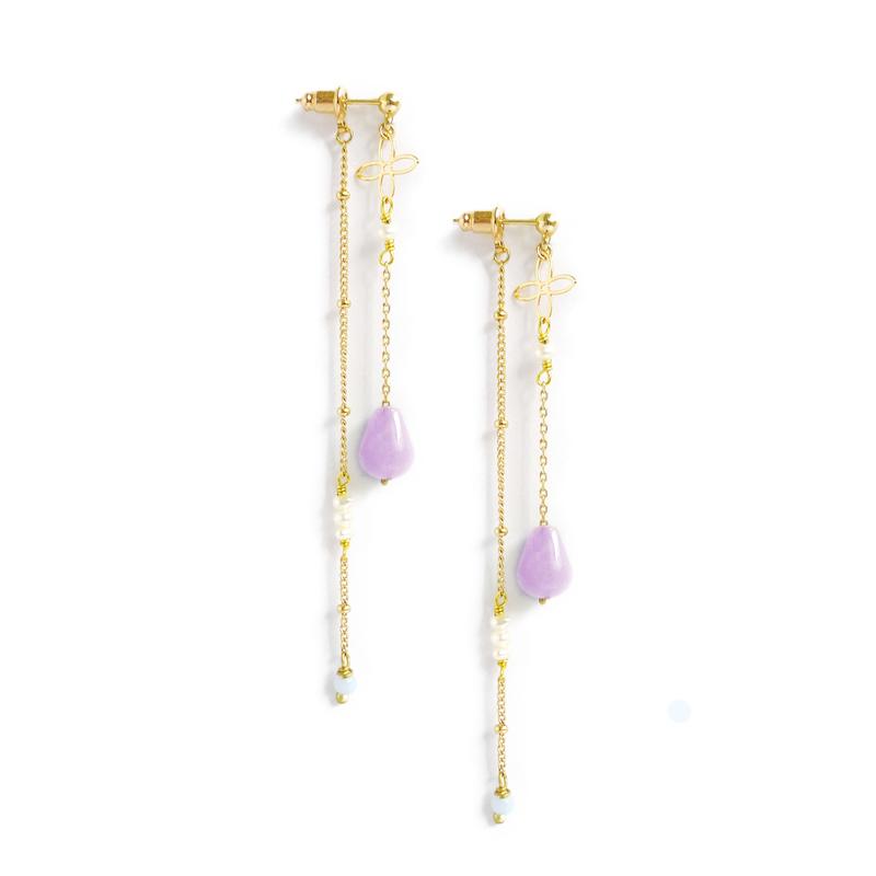 與你同行 – 紫水晶 – 兩戴耳環