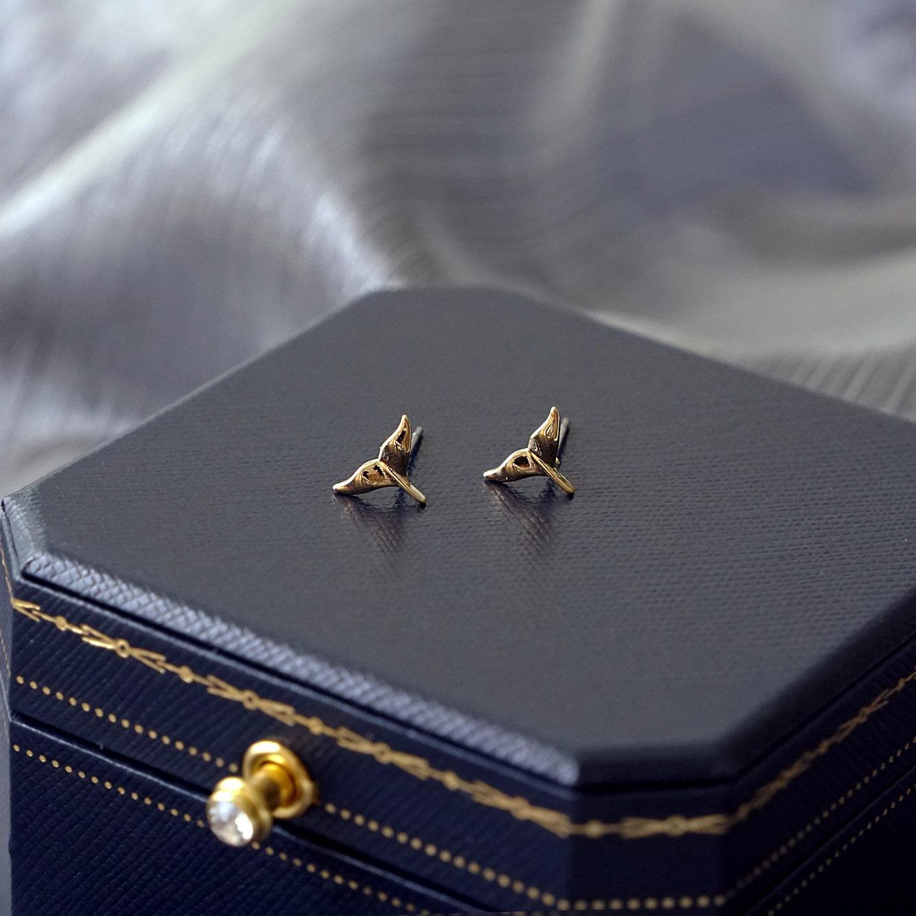 賽倫之音 – 魚尾 – 金 – 耳環
