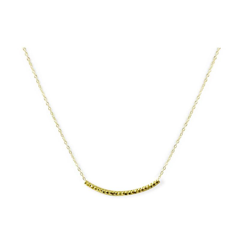 黃銅K金款 – 切面管 – 項鍊