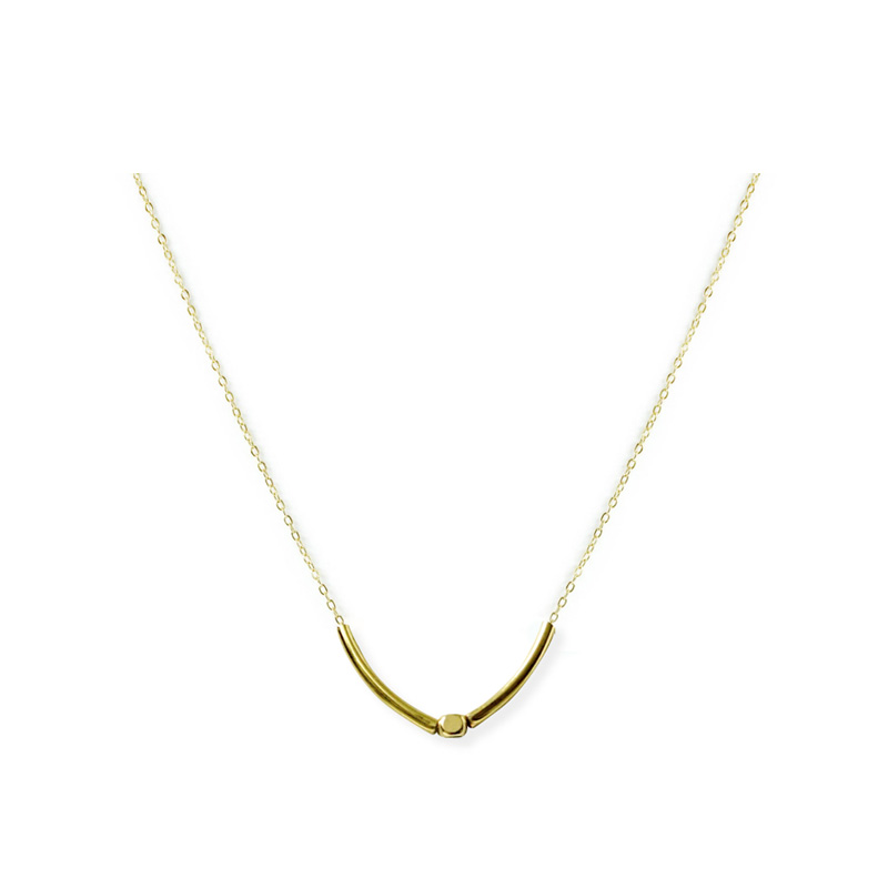 黃銅K金款 – 素管 – 項鍊