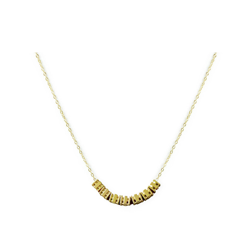 黃銅K金款 – 三線 – 項鍊