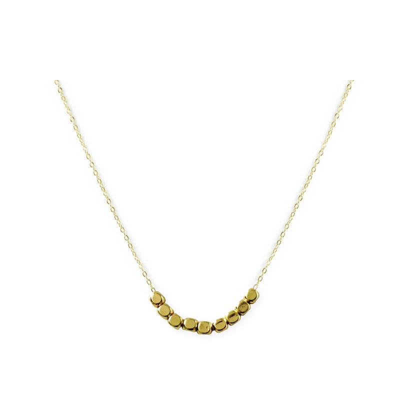 黃銅K金款 – 方塊 – 項鍊