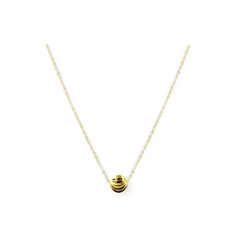黃銅K金款 – 小球 – 項鍊