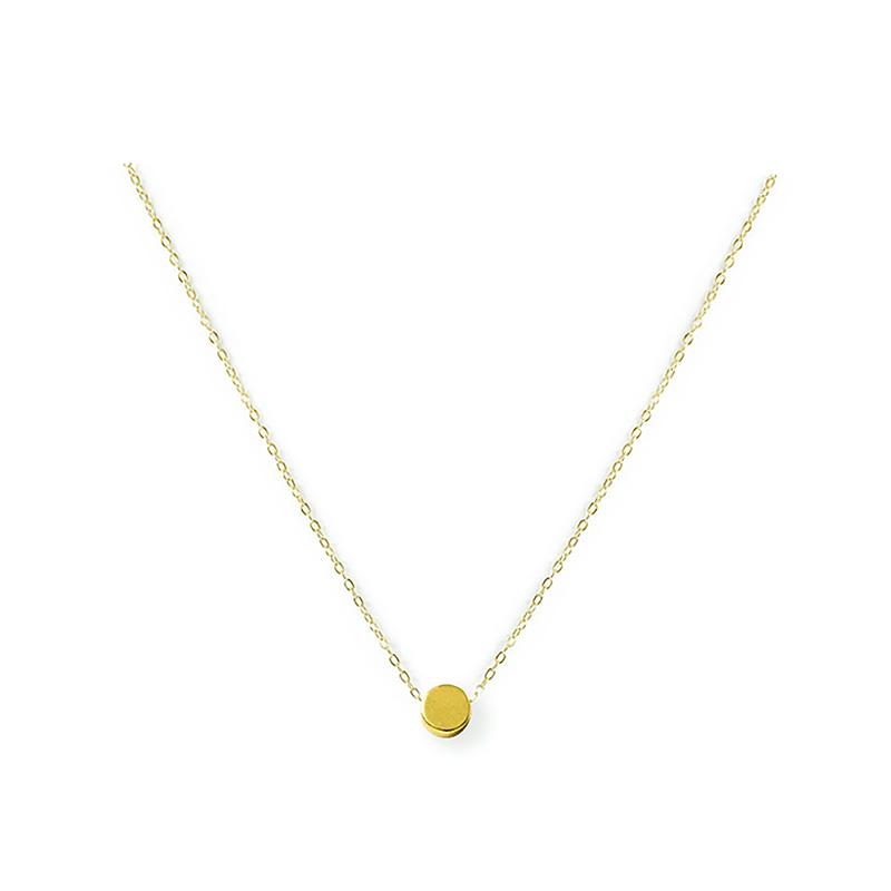 黃銅K金款 – 圓餅 – 項鍊