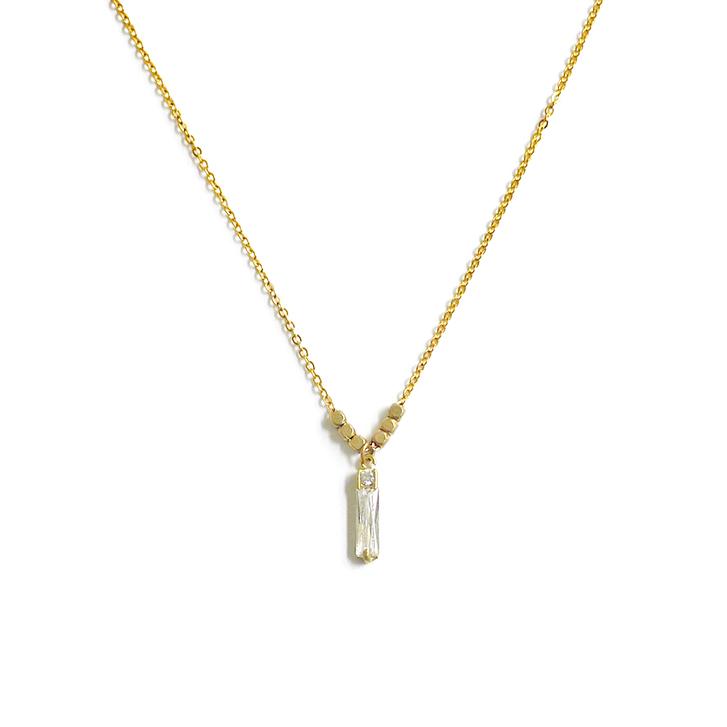 優雅鋯石款 – 長方鑽 – 項鍊