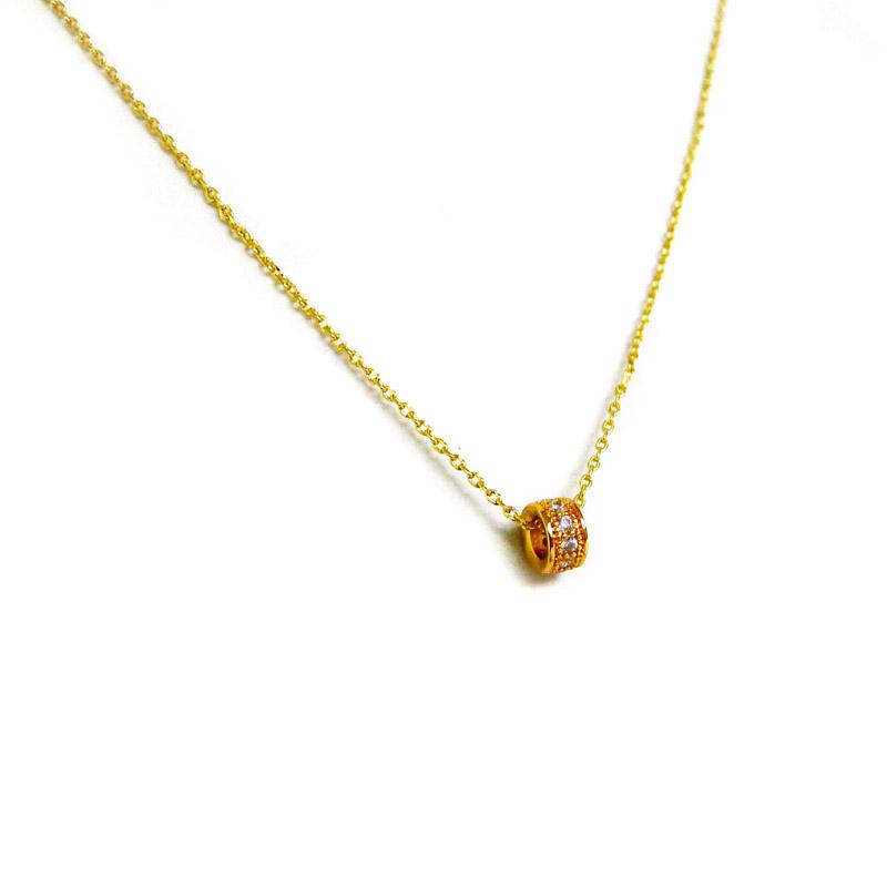 優雅鋯石款 – 環形鑽 – 項鍊