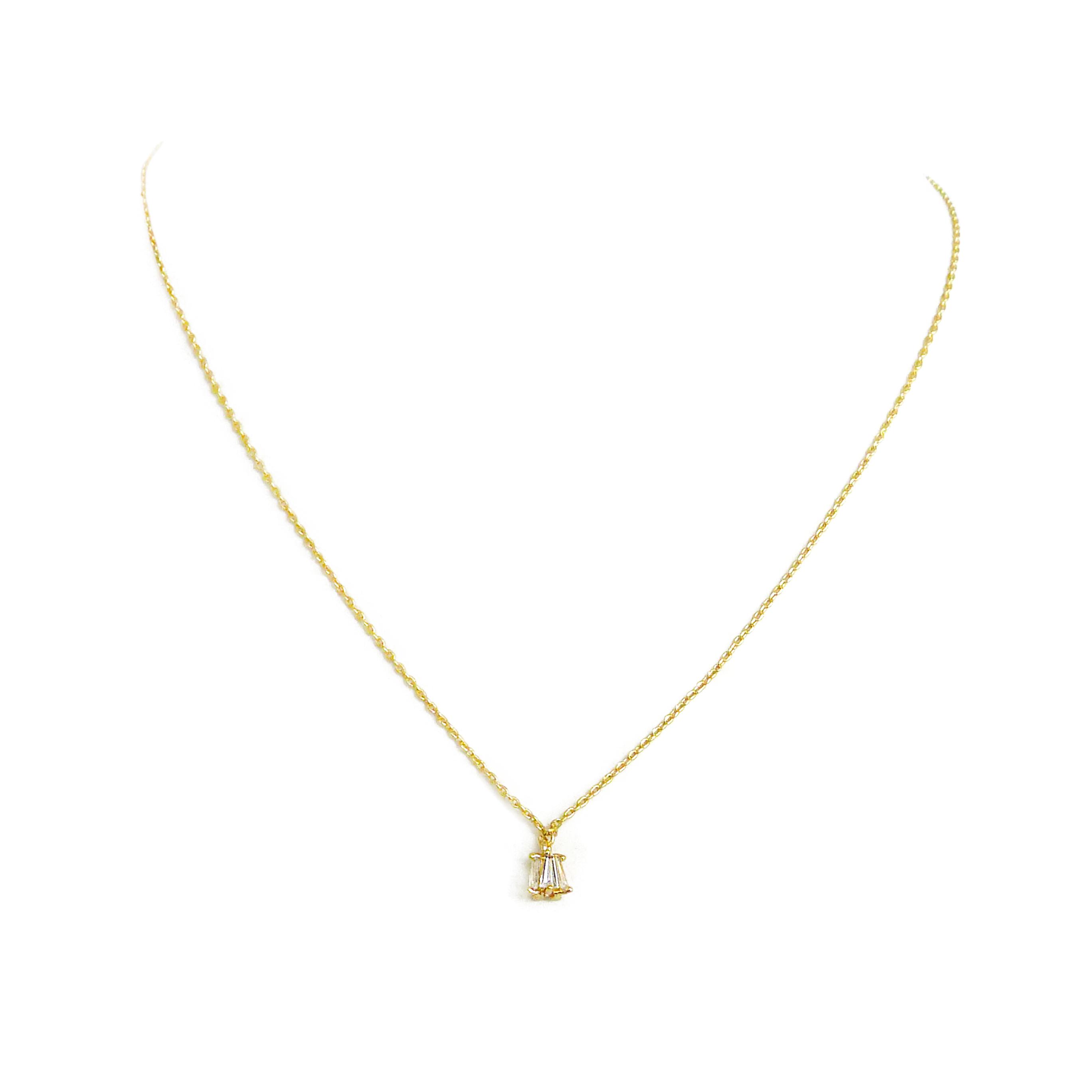 優雅鋯石款 – 小吊鐘 – 項鍊