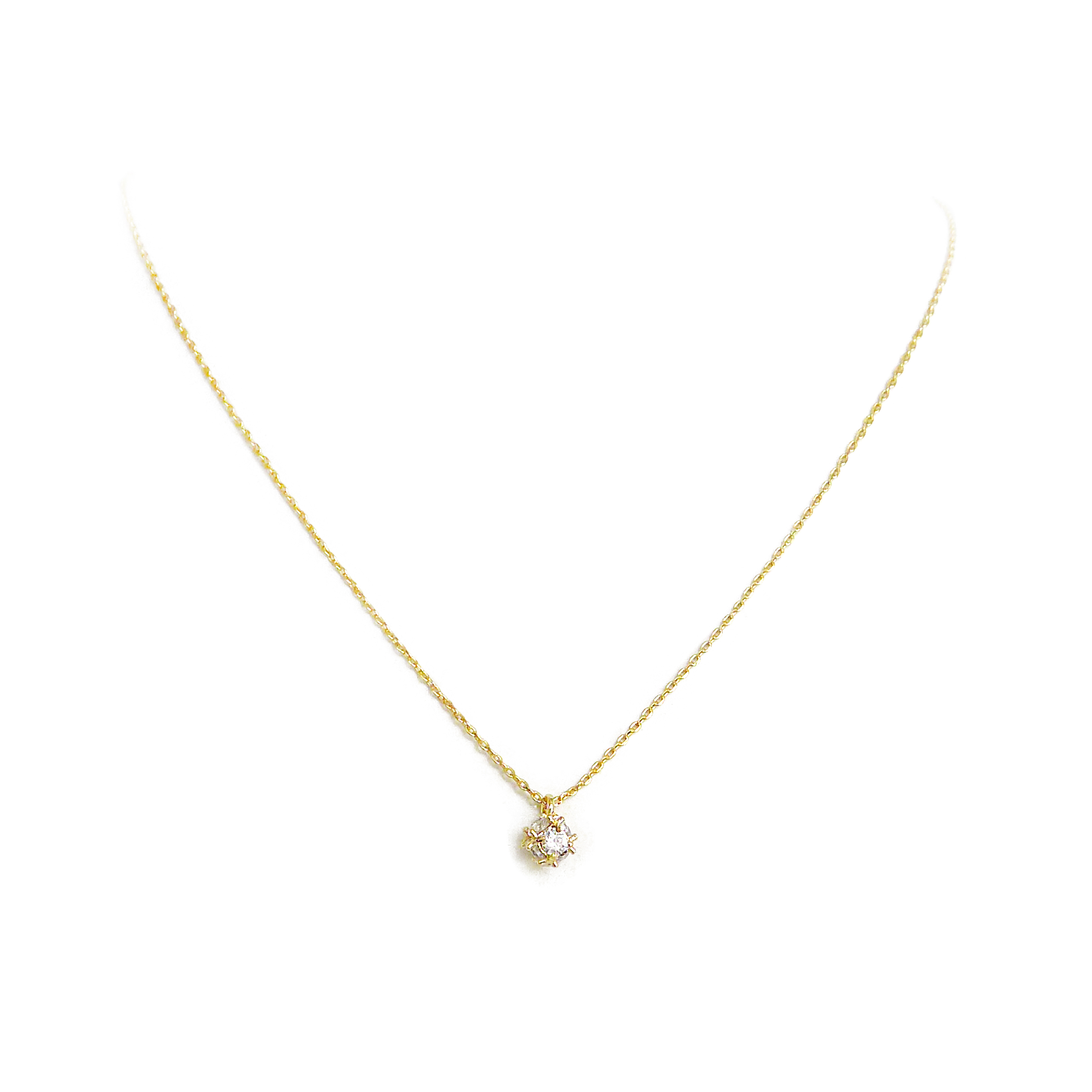 優雅鋯石款 – 八面形 – 項鍊