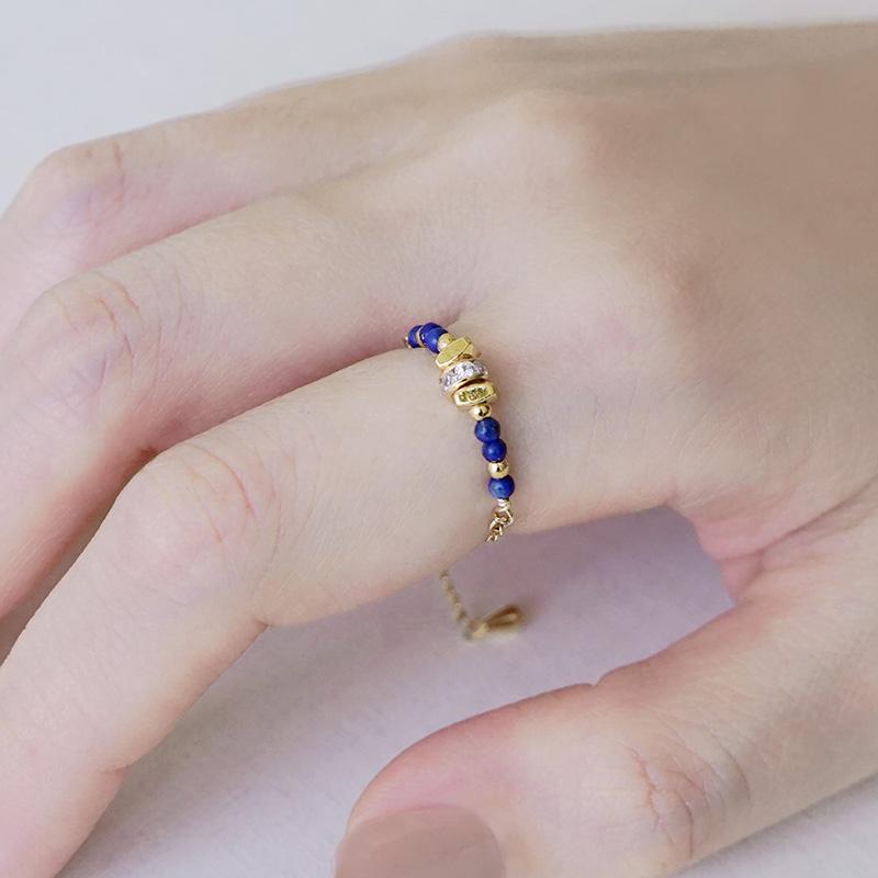 寶石調節式線戒 – 青金石 – 戒指