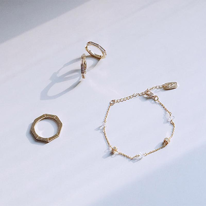 沉睡的馬丘比丘 – 手鍊 / 鋯石耳環 / 戒指